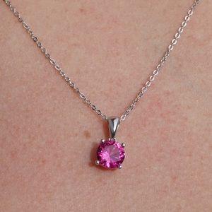 J&LBIJOUX Jewelry - S925 July (ruby) birthstone necklace